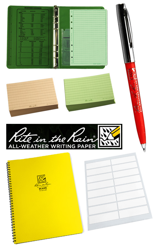 rite in the rain writing supplies Write in the Rain with these Supplies