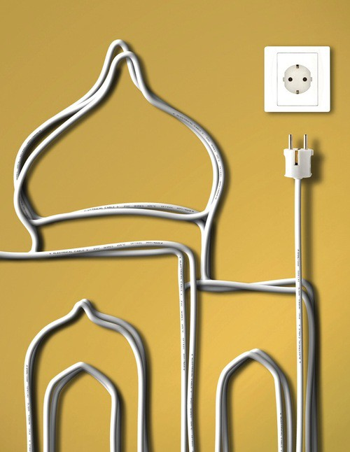 wall cord art Your Cords Can Be Art Supplies