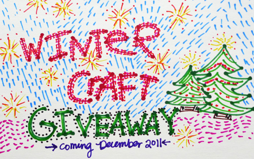 winter craft giveaway announcement Colorful Bic Mark Its + An Announcement!