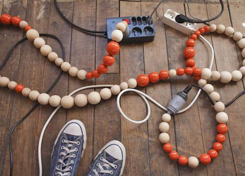 wooden beads electrical cords Your Cords Can Be Art Supplies