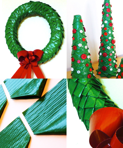 duct tape wreath trees Make A Duck Tape Wreath and Trees!
