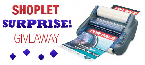 shoplet gbc laminator giveaway Shoplet Surprise Giveaway!