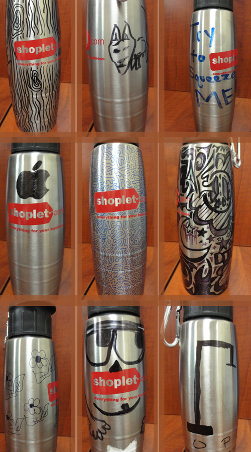shoplet waterbottle decoration contest Shoplet Decorate Your Water Bottle Contest