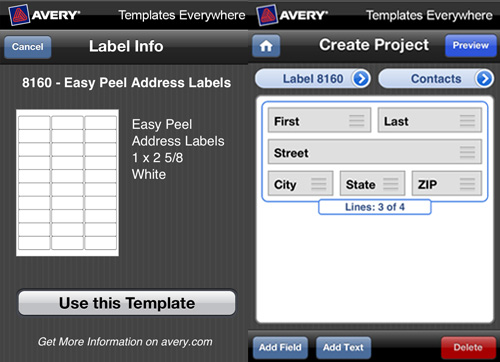 New Avery Templates Everywhere iPhone App - Shoplet Blog