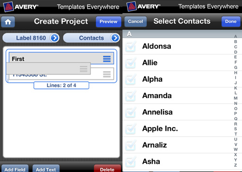 avery templates everywhere 3 New Avery Templates Everywhere iPhone App