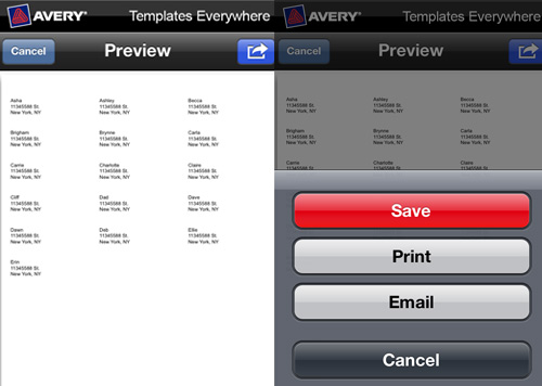 avery templates everywhere 4 New Avery Templates Everywhere iPhone App
