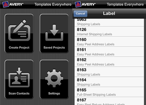 avery templates everywhere New Avery Templates Everywhere iPhone App