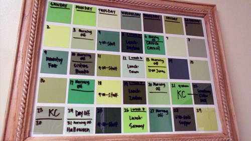 dry erase paint chip calendar 500x281 best of office weekend roundup 79