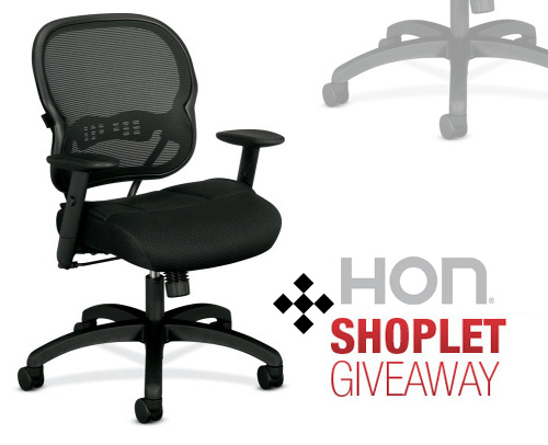 hon shoplet giveaway HON Chair Giveaway