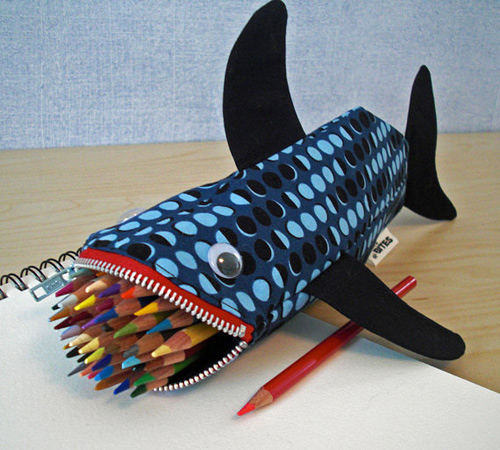 minne bites shark pencil case Minne Shark Bite Pencil Cases