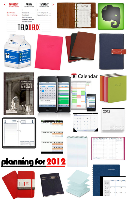 planners for 2012 Corporette Readers Favorite Planning Tools
