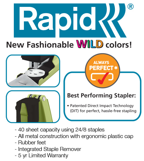 rapid stapler giveaway Esselte Wild Stapler Giveaway! 