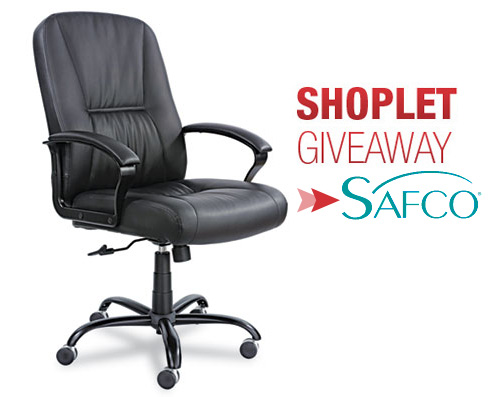 safco chair giveaway Safco Big and Tall Chair Giveaway