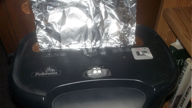 tin-foil-shredder