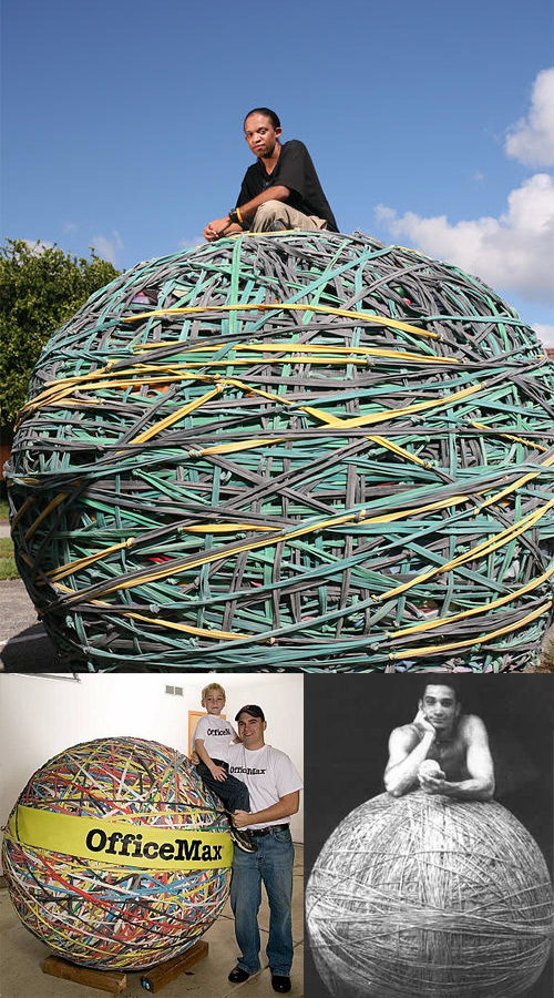 worlds largest rubber band ball record holders The Worlds Largest Rubber Band Ball