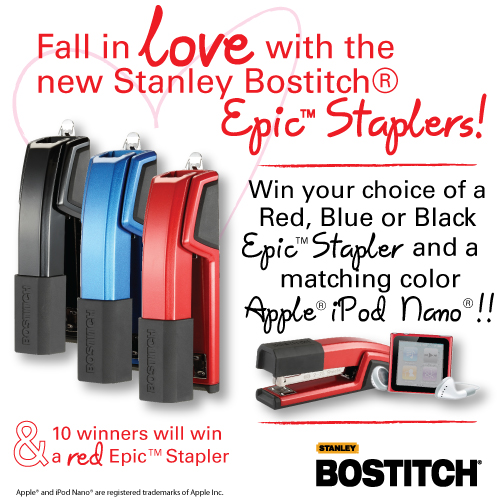 StanleyBostitch B777 Giveaway Annoucement 20120210 Stanley Bostitch Valentines Giveaway!