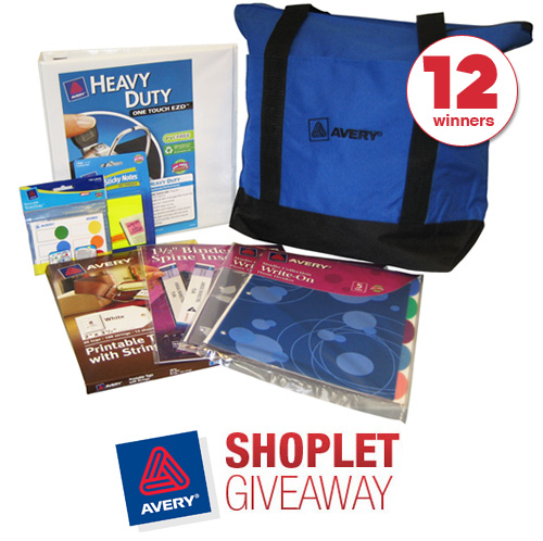 avery shoplet giveaway 12 Avery Tote Bags to Giveaway!