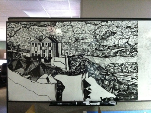 bill taylor 3 These Whiteboard Paintings are Unreal.