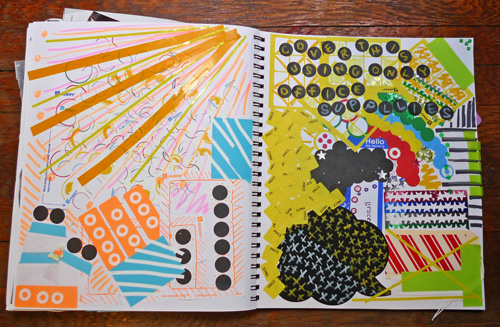 cover this page only using office supplies Wreck This Journal Using Office Supplies