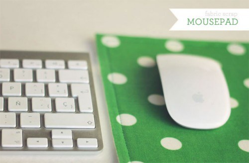 fabric scrap mousepad 500x328 best of office weekend roundup 86