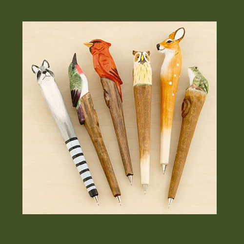 forest animal pens World Market Carved Wood Pens