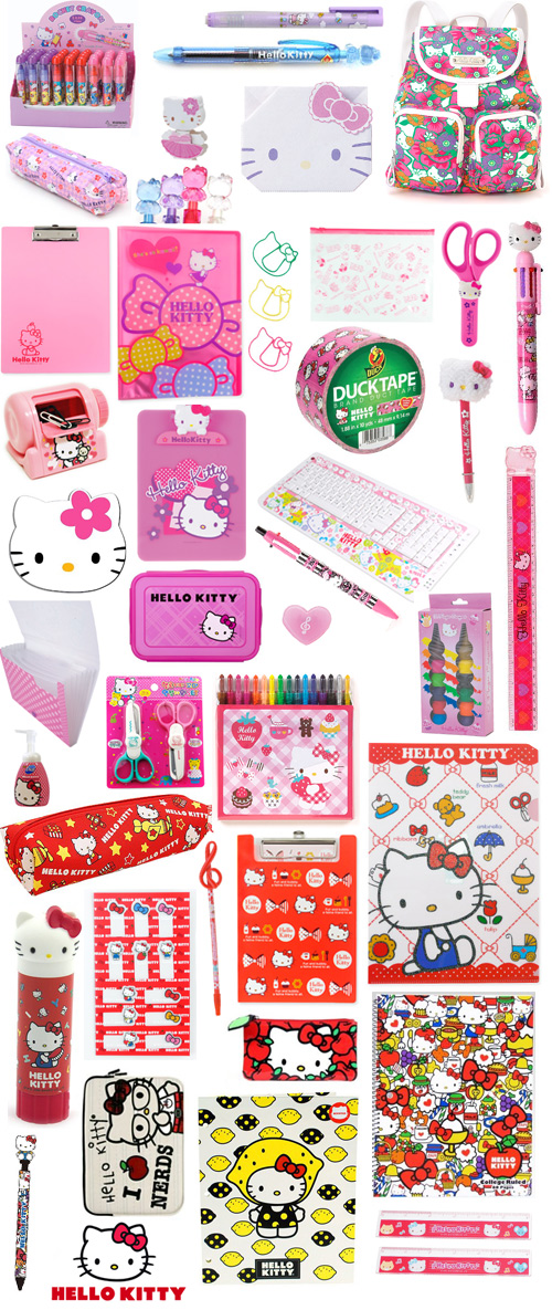hello kitty office supplies Hello Kitty for Your Office :)