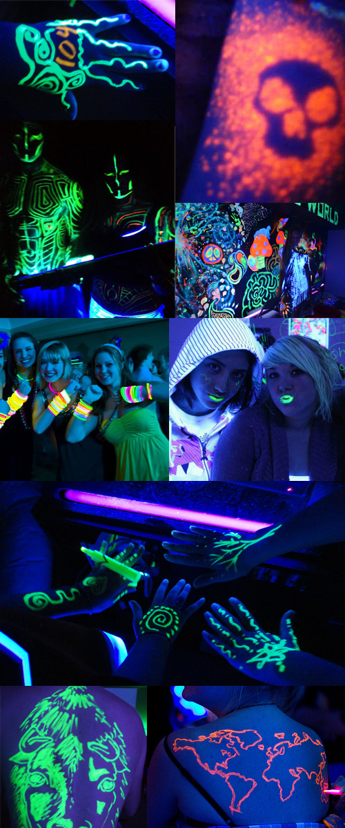 highlighter black light parties Black Light Highlighter Parties