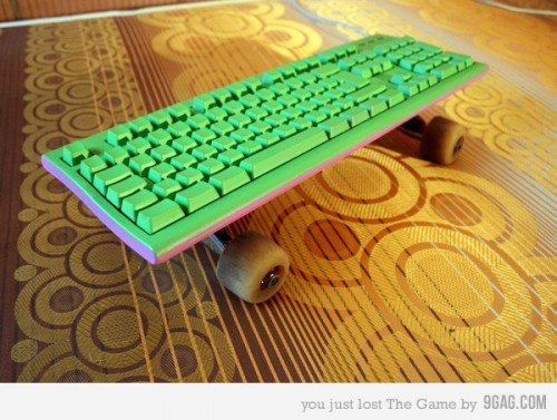 keyboard skateboard 500x377 Cool Keyboards