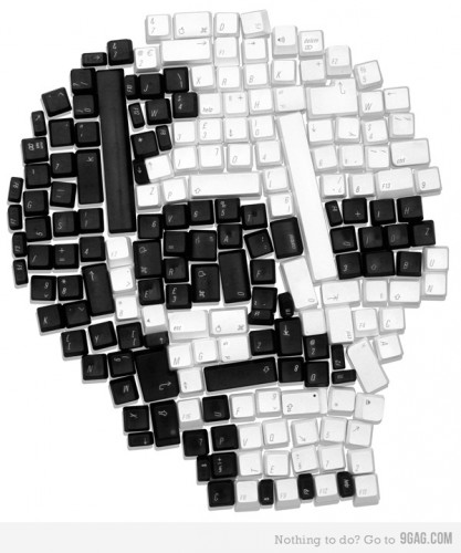 keyboard skull 417x500 Cool Keyboards