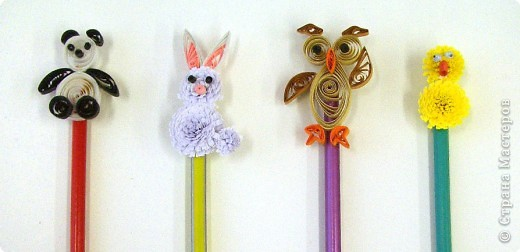 Quilled paper pencil topper Shoplet Blog