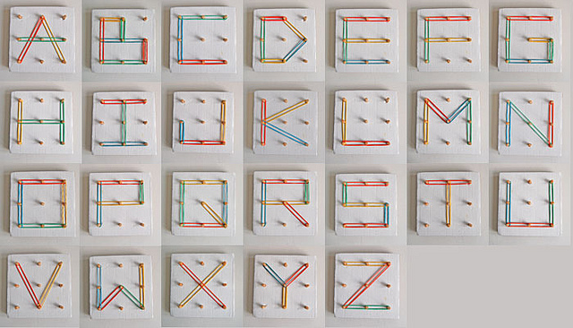 rubber-band-alphabet