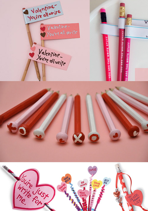 valentines pencils Cheesy Office Valentines Ideas
