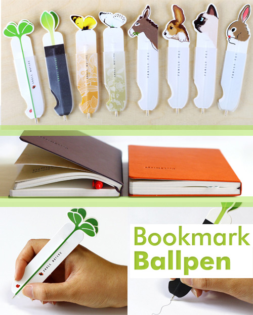 bookmark ballpoint pen Memos and Bookmark Pens by Connect Design