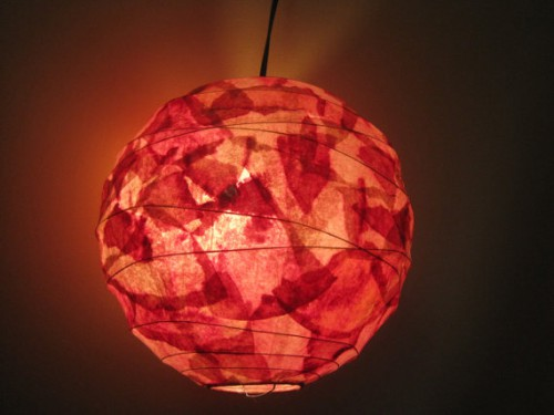 coffee filter hanging pendant 2 500x375 Recycled Coffee Filter Lamps and Lights