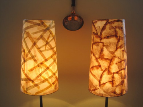 coffee filter lamps 500x375 Recycled Coffee Filter Lamps and Lights