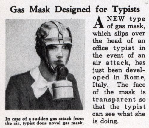 gas mask for typists Best of Office Weekend Roundup 90
