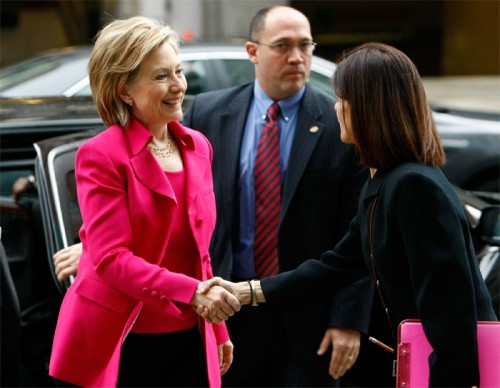 hillary hot pink 500x388 Best of Office Weekend Roundup 92