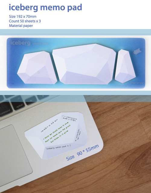 iceberg memo pad Memos and Bookmark Pens by Connect Design