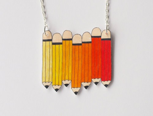 pencil necklace 500x379 Best of Office Weekend Roundup 89