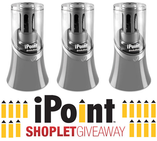 shoplet ipoint giveaway Three iPoint Pencil Sharpeners to Win!