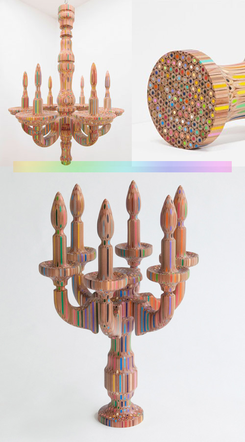 Takafumi YAGI color pencils Takafumi Yagis Colored Pencil Sculptures
