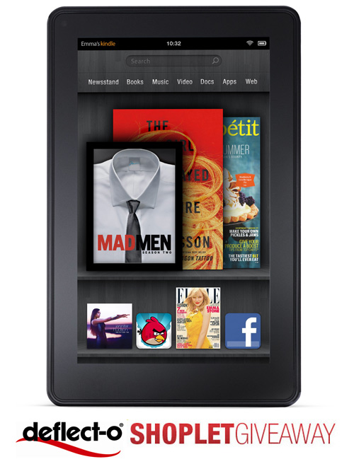 deflecto shoplet giveaway Win a Kindle Fire from Deflecto!