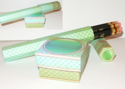 dragon scale pencil boxes 500x356 DIY Pencil Boxes