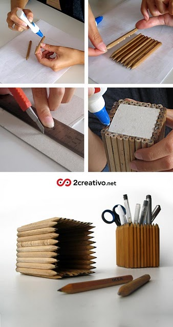 make a pencil holder Best of Office Weekend Roundup 93