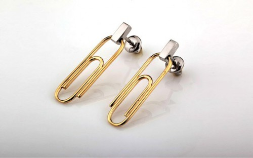 paper clip earrings 500x312 Best of Office Weekend Roundup 95