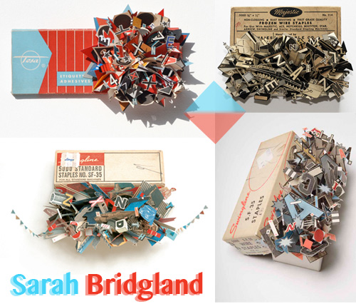 sarah bridgland swingline staple boxes Sarah Bridglands Vintage Supply Boxes