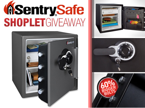 sentry safe giveaway Win a Sentry Combination Fire Safe!