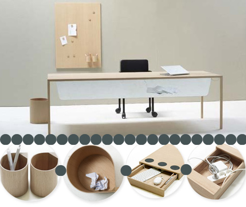 slim office magnetic desk1 A Magnetic Customizable Desk