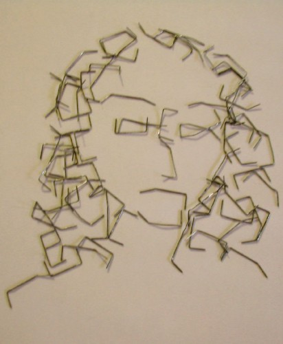 Paper Clip Portrait by Whyamithewerewolf 412x500 Best of Office Weekend Roundup 97