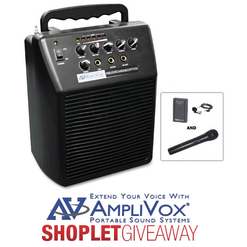 amplivox portable pa system giveaway AmpliVox Portable PA System Giveaway!